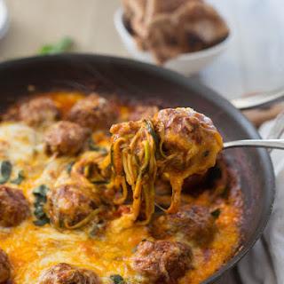 Cheesy Meatball Zucchini Skillet