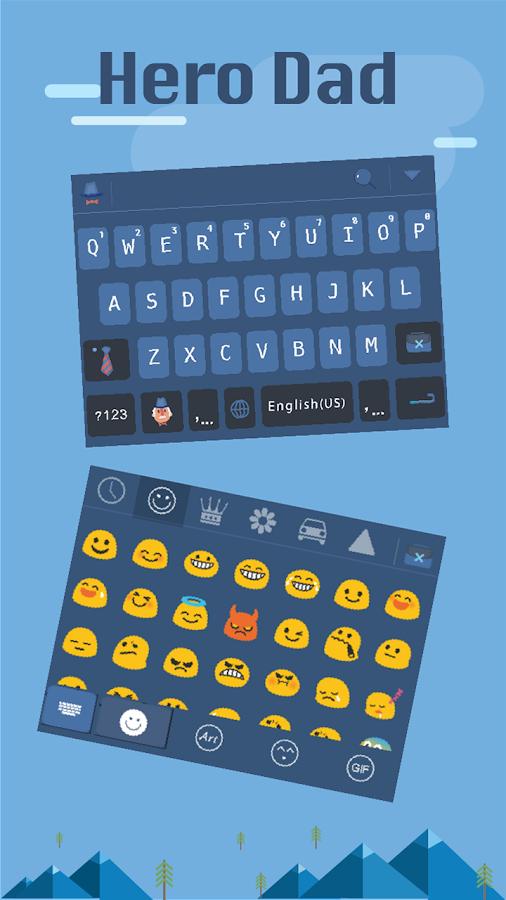 Hero-Dad-for-kika-keyboard 8