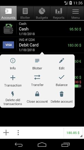 Financisto screenshot 2