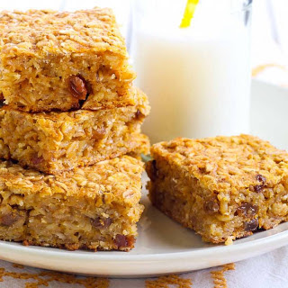 Pumpkin Oatmeal Breakfast Bar
