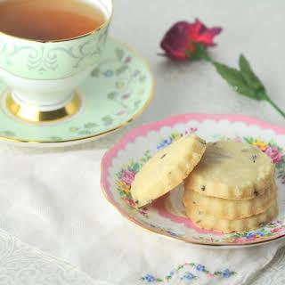 Lavender Shortbread Cookies.