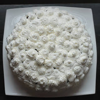 Chocolate Cake with Whipped Cream Frosting.