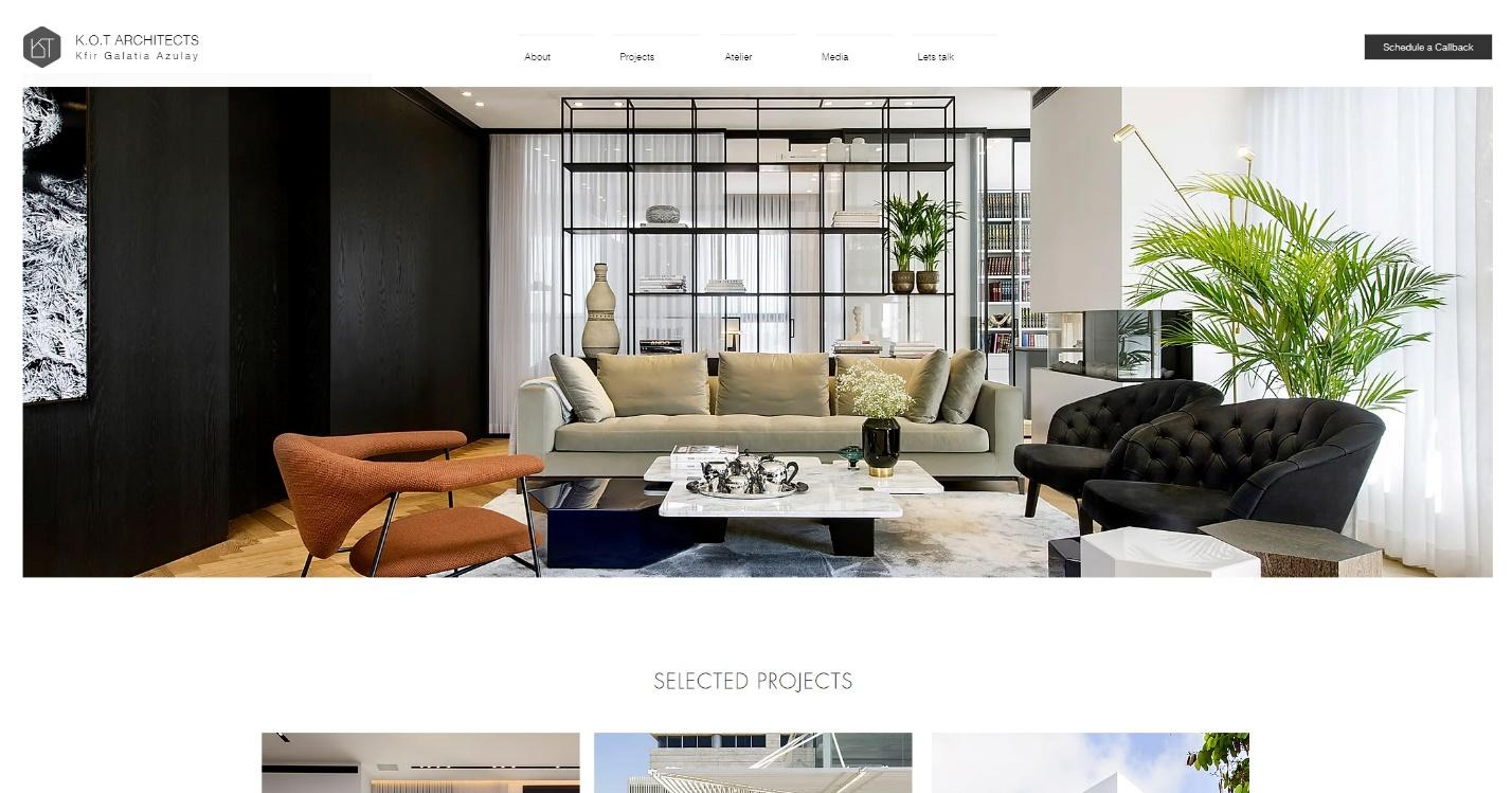 K.O.T  architects homepage
