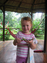 Photo: Genevieve with frog at Mawamba