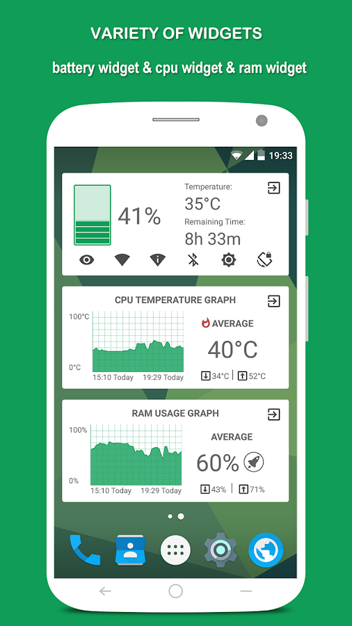 Battery Monitoring App User Interface : App powerful system monitor the cpu battery