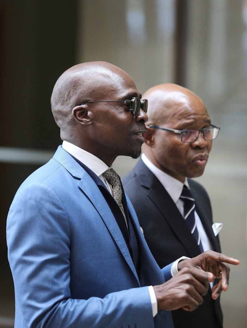 Finance Minister Malusi Gigaba and Deputy Finance Minister Sfiso Buthelezi. Picture: RUVAN BOSHOFF
