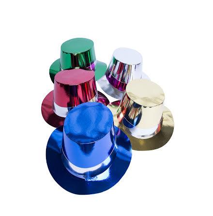 Hög hatt folie sorterade färger