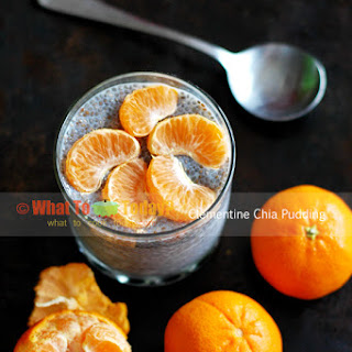 CLEMENTINE CHIA PUDDING (2 serving as dessert)