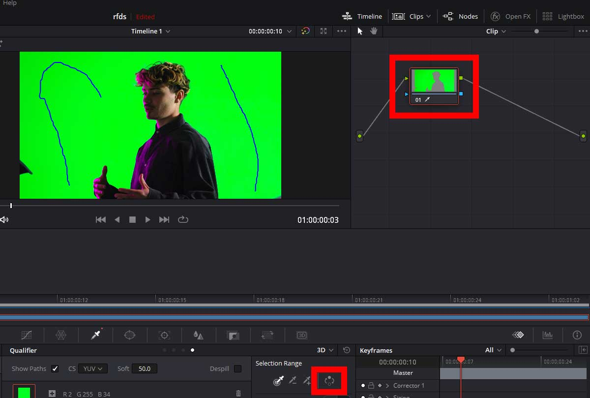 Remove the Green Screen in Davinci Resolve