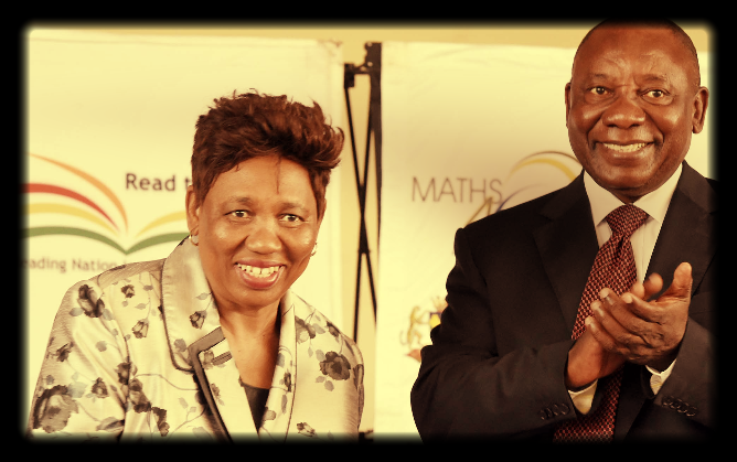 Education Minister, Angie Motshekga and Deputy President Cyril Ramaphosa. Picture: GCIS