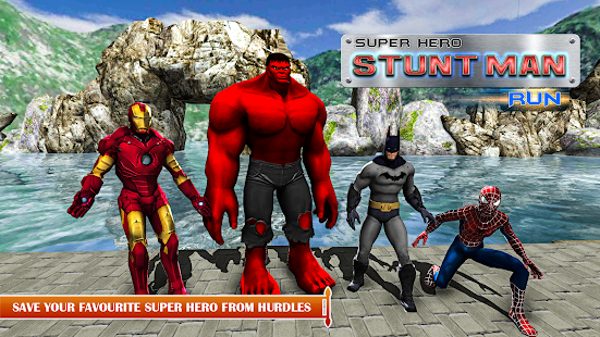 Superhero Stuntman Run - Water Park Games - náhled