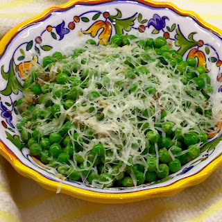 Peas With Shallots & Parmesan.