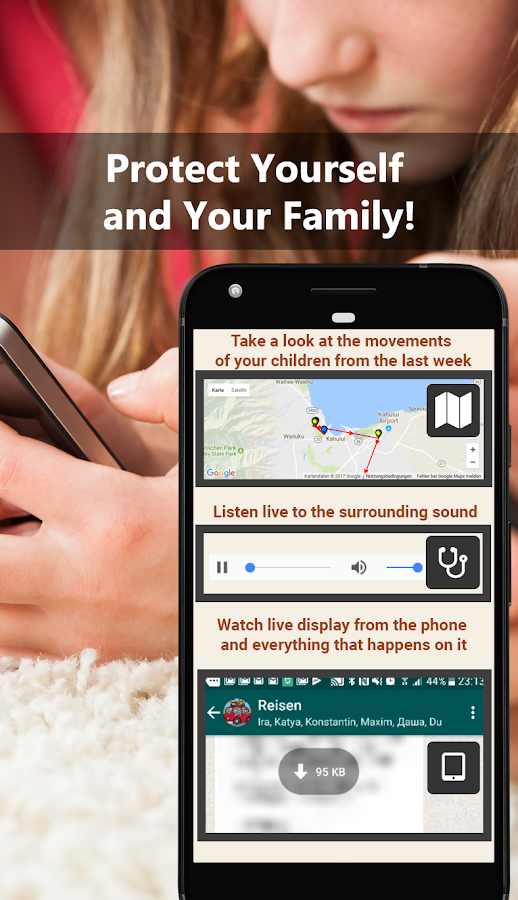 All Tracker Family. GPS, Calls and Video Tracking!- screenshot