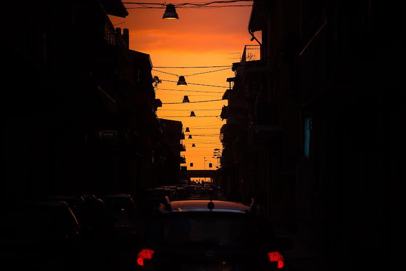 SUNSET IN THE TOWN di antonioleo