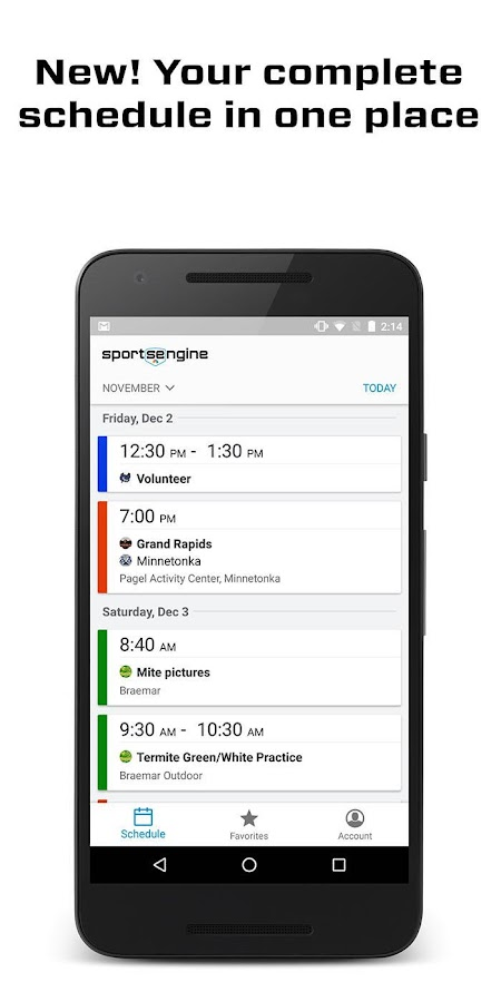SportsEngine- screenshot