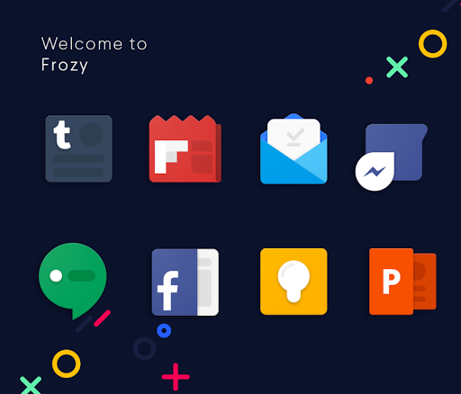 Frozy / Material Design Icon Pack screenshot 9