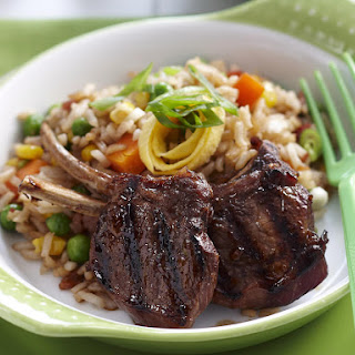 Honey Soy Lamb Chops with Fried Rice
