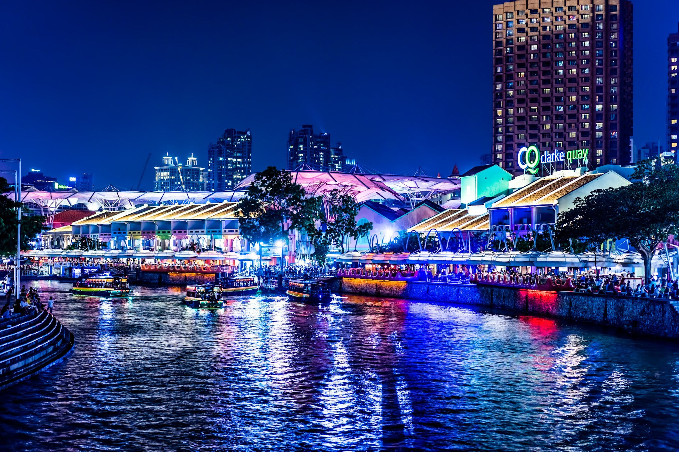 Singapore Clarke Quay night view1