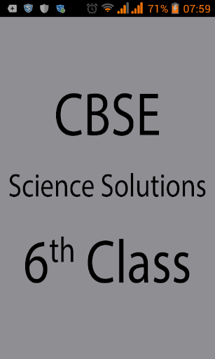 CBSE Science Solutions Class 6