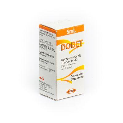 Dorzolamida + Timolol Dobet 2/0,5% Solución Oftálmica
