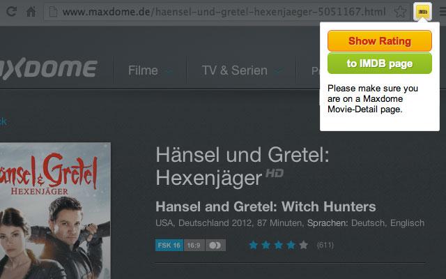 Maxdome-IMDB Ratings