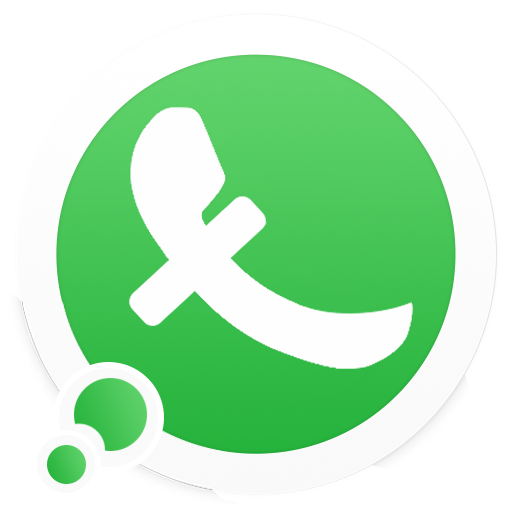 an image of this unusual application of 2020 look like whatsaApp but the f sign shows its a fake chatting application