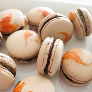 Peanut Butter Chocolate Macarons