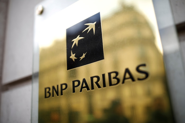 The BNP Paribas logo is seen at a branch in Paris, France. Picture: REUTERS/BENOIT TESSIER