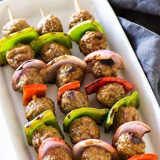 Italian Style Meatball Kabobs.