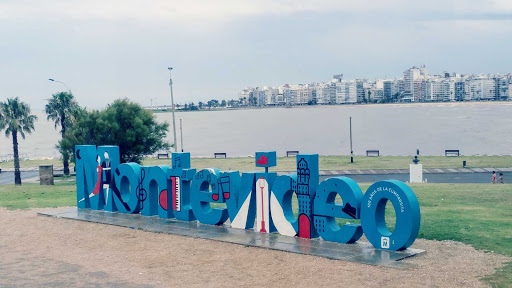 20180105_125426_Film3.jpg - The bay in Montevideo, Uruguay, another fun part of our itinerary. The bay has many condominiums and artistic statues surrounding it.