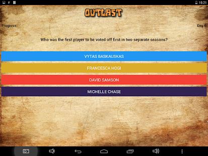 Outlast - Survivor Trivia Quiz - náhled