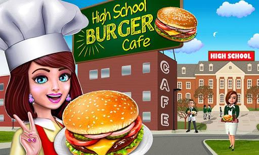 High School Cafu00e9 Girl: Burger Serving Cooking Game 1.1 screenshots 1