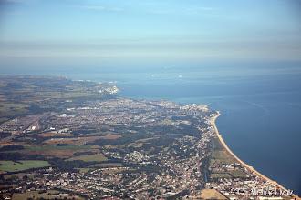 Photo: Sørøstkysten av England før kryssing av den engelske kanal for andre gang på denne turen