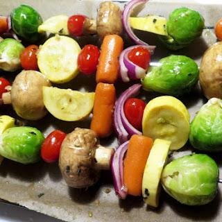 Grilled Veggie Kabobs.