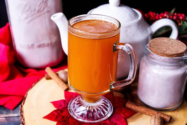 A Glass Of Spiced Christmas Tea.
