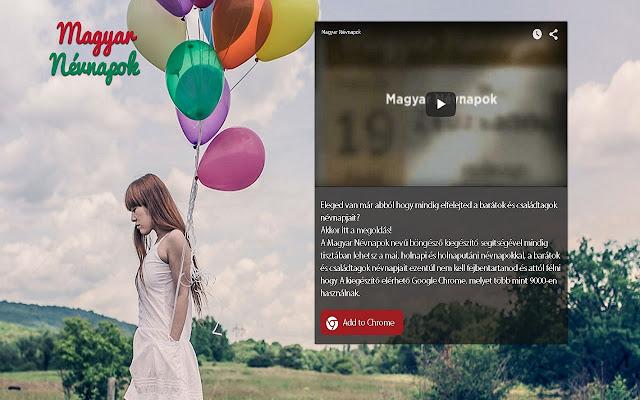 naptár névnapokkal letöltés Magyar Névnapok   Chrome Internetes áruház naptár névnapokkal letöltés