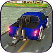Car Tow Truck Transporter 3D