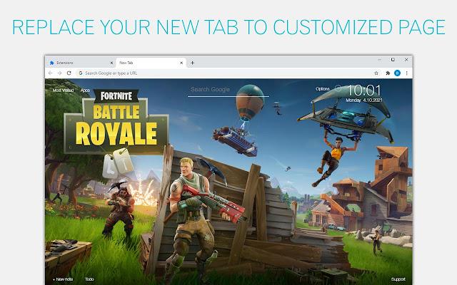 Fortnite Backgrounds HD Battle Royale New Tab