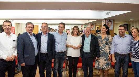 """Susana Díaz: """"Desde Almería hemos dado fuerza al ganador, a Sánchez"""""""