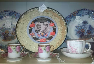 Photo: The coronation & jubilee cups are quite common, but the plates tend to be rarely seen. This one from the 1935 silver jubilee seen at Excellente on North St.