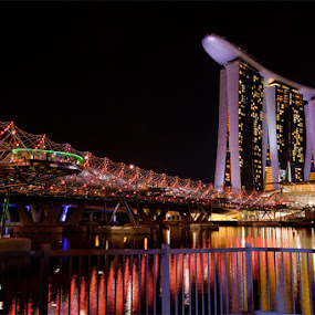 by Ronz'da Dezign - Travel Locations Landmarks ( pwclandmarks, marina bay sands, helix bridge singapore fullerton one )