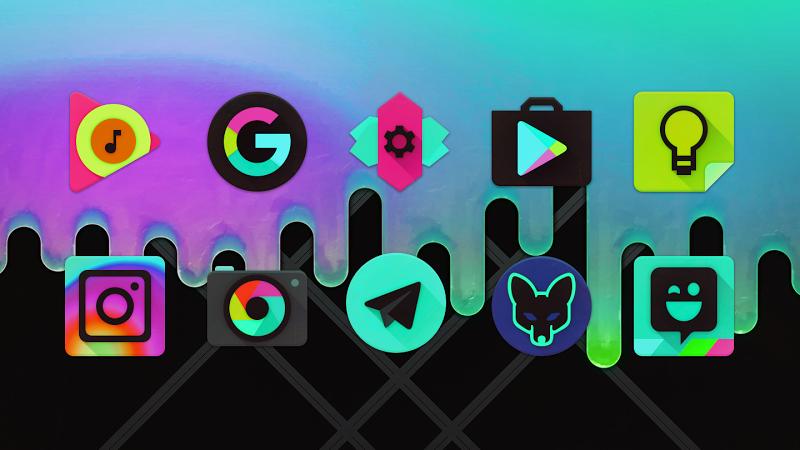 Black Light Icon Pack Screenshot 4