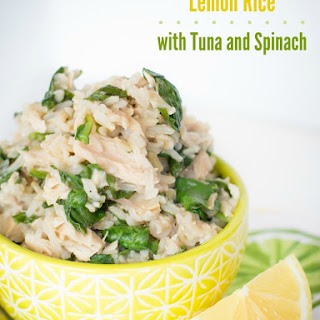 Lemon Rice Recipe with Tuna and Spinach.