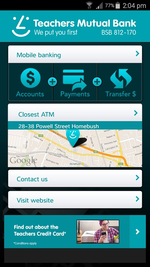 Teachers Mutual Bank- screenshot