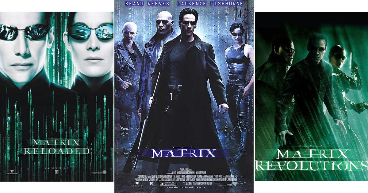 The cover art on the first Matrix is blue when the Matrix itself ...