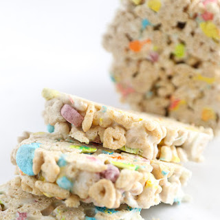Lucky Charms Marshmallow Treat Cones.