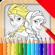coloring princess happy icon