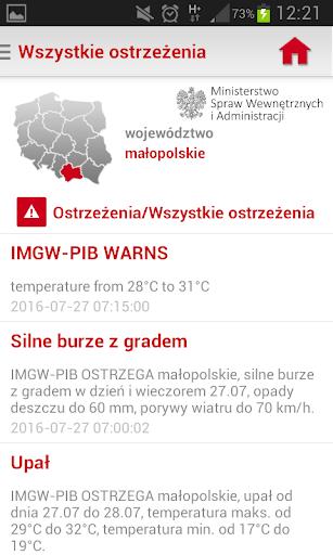 Regionalny System Ostrzegania screenshot 4