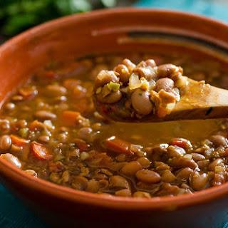 Vegan Frijoles Charros Recipe (Mexican Cowboy Beans).