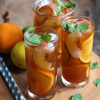 Peach and Citrus Iced Tea